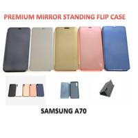 Samsung A70 Clear View Mirror Standing Flip Cover Case Premium