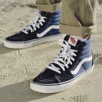 Sepatu Sneakers Vans Old Skool High SK8 HI Navy Biru Dongker - 36, Biru