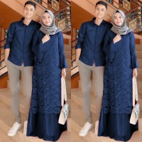 Couple Kebaya Brukat Alexa dan kemeja 5 pilihan warna