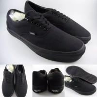 sepatu vans authentic full black hitam polos