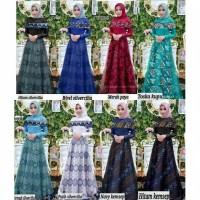 Dress batik/longdres remaja muslim/baju kondangan/jalan/gamis brokat