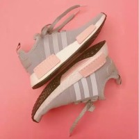 ORIGINAL Sepatu Adidas NMD R1 abu pink wanita limited