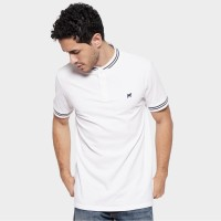 MON AKITA - Jeremie Men Polo Shirt White - Kaos Polo Putih Pria