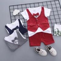 Baju Anak Bayi Laki Laki Setelan Rompi Tuxedo Bayi Baju Kondangan Bayi