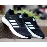 Sepatu Sneakers Pria Adidas Neo Climacool Black White Import Casual