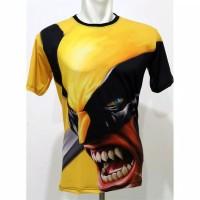 Kaos Baju 3D Wolverine Full Print Baju Superhero Anak dan Dewasa