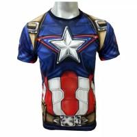 Kaos 3D Captain Amerika Age of Ultron Baju Superhero Anak dan Dewasa