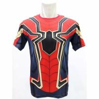 Kaos 3D Spiderman Iron Spider Fullprint Baju Superhero Anak dan Dewasa