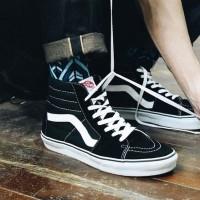 Sepatu Sneakers Vans Old Skool High SK8 HI Black - 36, Hitam