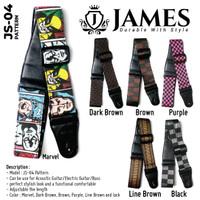 Strap Gitar James JS-04 / Strap Gitar Akustik James Pattern / Marvel