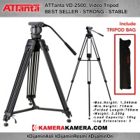 Tripod ATTanta VD-2500 Video Tripod Professional VD2500 VD 2500