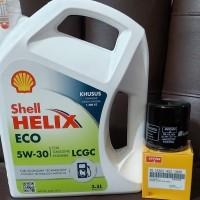 Paket Oli Shell Helix ECO 5W-30 + Filter Oli Agya/ Ayla/ Sigra/ Calya