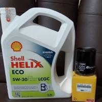 Paket Oli Shell Helix ECO 5W-30 + Filter Oli Honda Brio Satya