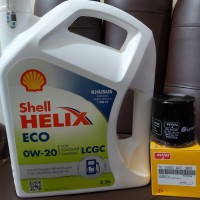Paket Oli Shell Helix ECO 0W-20 + Filter Oli Agya/ Ayla/ Sigra/ Calya