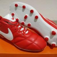 Sepatu Bola - Soccer Nike Tiempo Premier II Leather University Red -