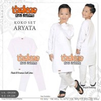 Koko Set Putih Anak ARYATA by Thaluna Kids