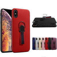Case Stand Ring Holder Magnet Bumper Matte Casing Iphone X / XS