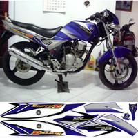 Stiker Cutting Yamaha - Striping Scorpio Z Biru 2005