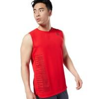 Re*bok Lesmills Body Pump Red Tanktop Man Baju Pria Cowok Les Mills LM