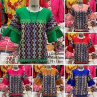Atasan Blouse Wanita Batik Songket Katun Stretch Import - 377