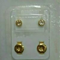 Anting Tindik Studex Original USA size M Warna emas / Anting tindik