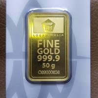 Fine Gold Antam 50 gram Logam Mulia 999.9% PRESS/CERTIEYE