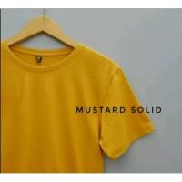 Baju Kaos Polos Oblong Bandung YELLOW MUSTARD Cewek Cowok