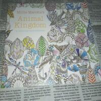 Animal Kingdom coloring book - pocket adult coloring book