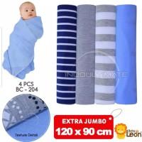 JUMBO bedong bayi isi 4pcs 120x90cm selimut bayi baby leon bc-204(FS)