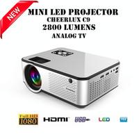 Cheerlux C9 Mini LED 2800 Lumens Projector Proyektor TV Tuner