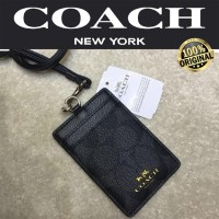 COACH Id Lanyard In Colorblock Signature Canvas 100% AUTHENTIC!