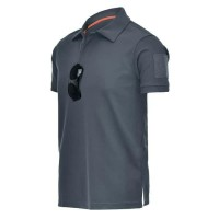 polo shirt tactical baju kaos tactical combat-Abu-abu