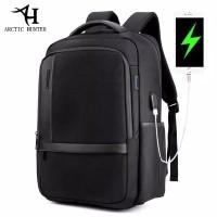 Arctic Hunter Tas Ransel Kasual Backpack Laptop 15.6Inc USB B00120 - Hitam