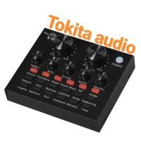 MIXER SOUND CARD EXTERNAL SOUNDCARD V8 AUDIO LIVE MICROPHONE ASMR V 8