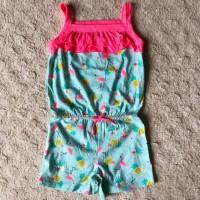 Baju anak Jumpsuit toska flaminggo size 6 7tahun