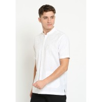 Jobb Asfan Baju Koko Pria Lengan Pendek Regular Fit Putih