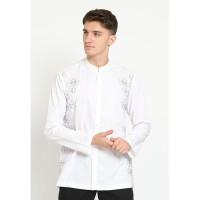 Jobb Syibam Baju Koko Pria Lengan Panjang Regular Fit Putih