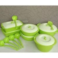 2 kg Asvita Emerald Family Set 6 Pcs Green Hijau Wadah Saji Makanan