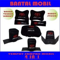 Bantal leher ALL NEW RUSH TEMPAT SAMPAH MOBIL HEADREST MOBIL