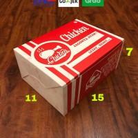 Box fried chiken / box nasi ayam / dus ayam goreng /dus nasi uk 15×11
