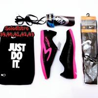 Sepatu futsal specs bonus kaos kaki tas dan deker