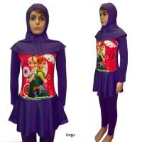 Baju Renang Anak Muslimah Usia 5 - 6th Karakter Frozen Elsa Size XL