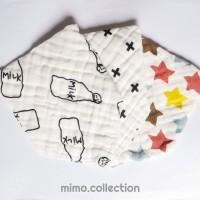 Triangle Bib Thick Muslin Cotton Baby / Celemek Kain Bayi Segitiga
