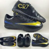 Sepatu Futsal Anak Nike Mercurial X CR7 Turf Black Gold