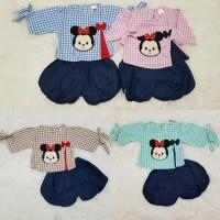 Baju Setelan Bayi Perempuan Celana Balon Tsum Tsum