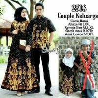 Baju couple gamis jumbo sarimbit keluarga motif gurita
