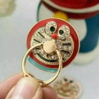 I RING STAND HP KARAKTER DORAEMON HELLO KITTY DIAMOND