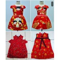 6-15th dress imlek anak merah dress cheongsam anak cewek baju imlek re