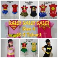 Baju Wonder Woman Batgirl Incredibles Supergirl Robin Girl Kostum Anak