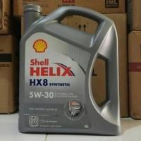 oli shell helix hx8 sae 5w-30 galon 4 liter